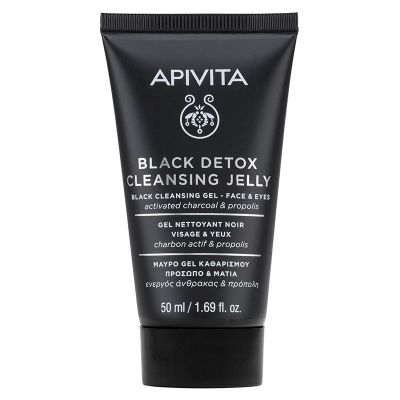 Apivita Black Detox Cleansing Jelly face-eyes Activated Charcoal & Propolis 50 ml
