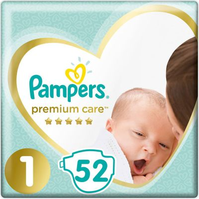 Pampers Premium Care Value Pack Νo 1 (2-5kg) 52τμχ