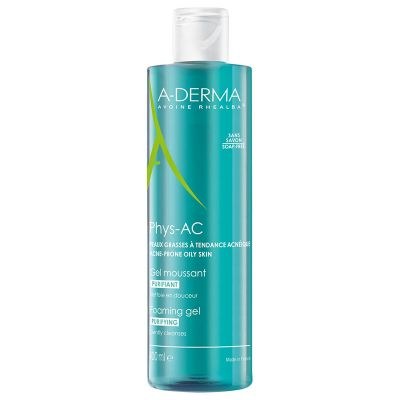 A-Derma Phys-AC Purifying Foaming Gel 400ml
