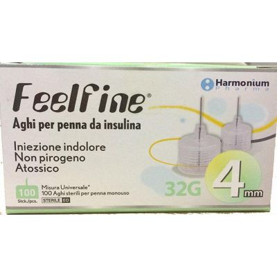 Harmonium Pharma Feelfine 32Gx4mm 100pcs