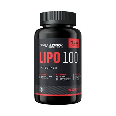 Body Attack Lipo 100 Fat Burner 120caps