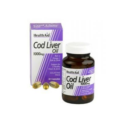 Health Aid Cod Liver Oil 1000mg Μουρουνέλαιο 30Caps