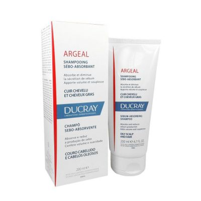 Ducray Argeal Shampooing Sebo-Absorbant Oily Scalp and Hair Σαμπουάν για Λιπαρά Μαλλιά 200ml