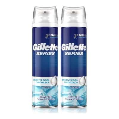 Gillette Series Sensitive Cool Shave Foam with Menthol 2 x 250 ml