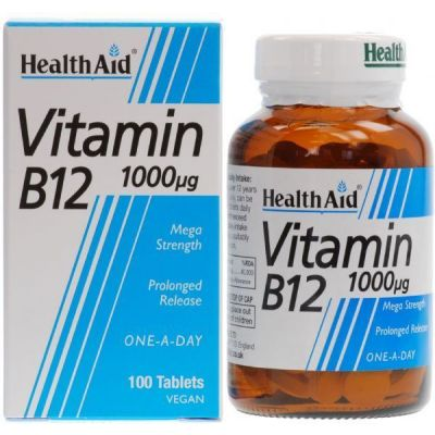 Health Aid B12 1000mg 100 tabs