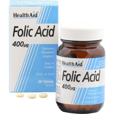 Health Aid Folic Acid 400mg 90 tabs