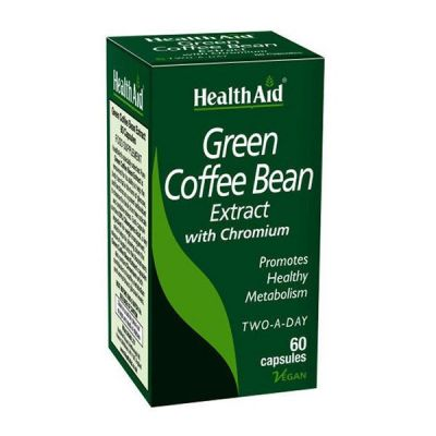 Health Aid Green Coffee Bean Extract with Chronium 60 κάψουλες