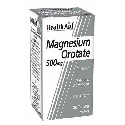 Health Aid Magnesium Orotate 500mg Συμπλήρωμα Διατροφής με Μαγνήσιο 30 ταμπλέτες