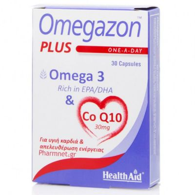 Health Aid Omegazon Plus Ω3 & CoQ10 30καψουλες