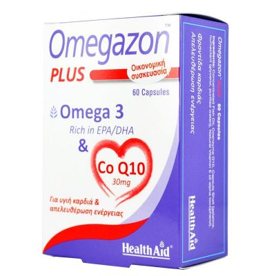 Health Aid Omegazon Plus Ω3 & CoQ10 60 καψουλες