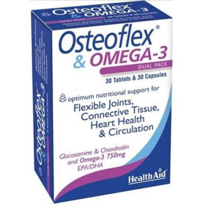 Health Aid Osteoflex & Omega 3 Dual Pack 30 κάψουλες + 30 ταμπλέτες