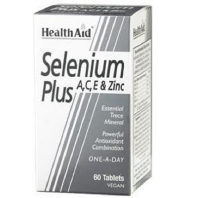 Health Aid Selenium Plus 200 mg A, C, E & Zinc 60 ταμπλέτες