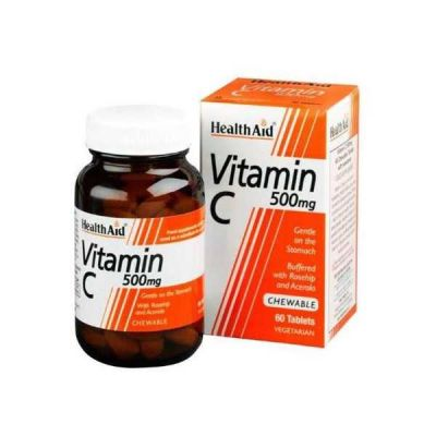 Health Aid Vitamin C 500mg Chewable 60 ταμπλέτες