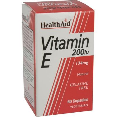 Health Aid Vitamin E 200iu Natural vegetarian capsules 60 caps