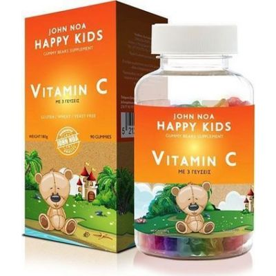 John Noa Happy Kids Vitamin C 90 ζελεδάκια