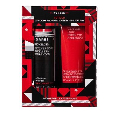 Korres Set Vetiver Shower Gel Ανδρικό Αφρόλουτρο 250ml & After Shave Balm 125ml
