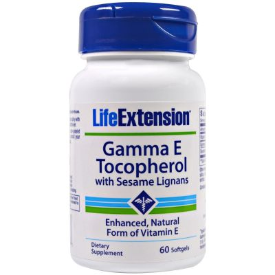 Life Extension Gamma E Tocopherol with Sesame Lignans, 60 Softgels για Καταπολέμηση της Γήρανσης
