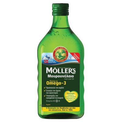 Moller's Cod Liver Oil Λεμόνι 250ml