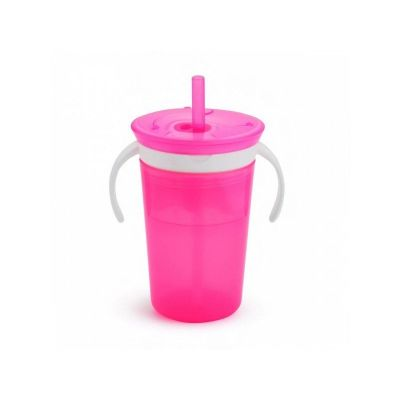 Munchkin Snack and Sip Cup Μπολάκι και Ποτήρι Δύο σε Ένα 266ml (ροζ χρώμα)