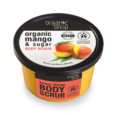 Natura Siberica Organic Shop Body Scrub Kenyan Mango Top 250ml