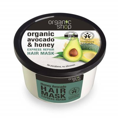 Natura Siberica Organic Shop Hair Mask Honey Avocado, 250 ml