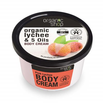 Natura Siberica Organic Shop Pink Lychee Body Cream 250ml