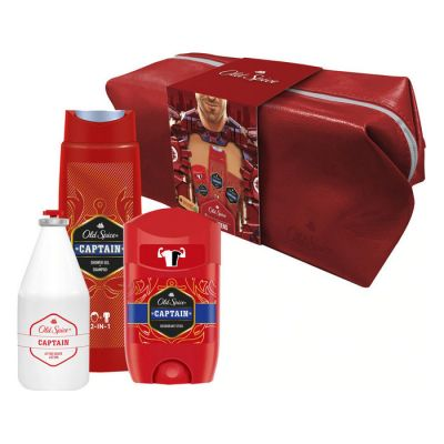 Old Spice Gift Set Captain Deodorant Stick 50ml & After Shave Lotion 100ml & Shower Gel+Shampoo 250ml & Νεσεσέρ