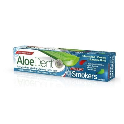 Optima Aloe Dent Triple Action Smokers Toothpaste Οδοντόκρεμα κατά των Λεκέδων από το Κάπνισμα 100ml