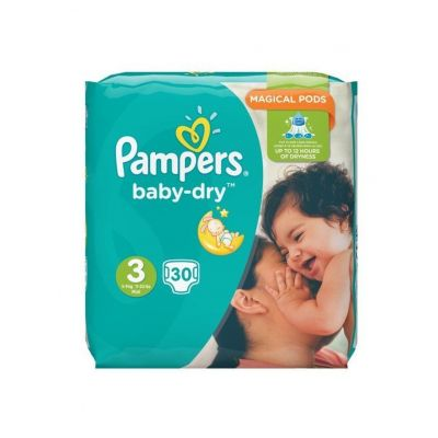Pampers Baby Dry No3 Magical Pods 5-9Kg 30 Πάνες
