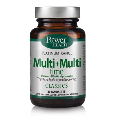 Power Health Classics Platinum Multi + Multi Time Ισχυρή Πολυβιταμίνη, 30 tabs
