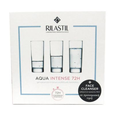 Rilastil Aqua Intense 72H Gel-Cream Intensive Moisturizer 40 ml & Aqua Moisturizing Face Cleanser 50 ml
