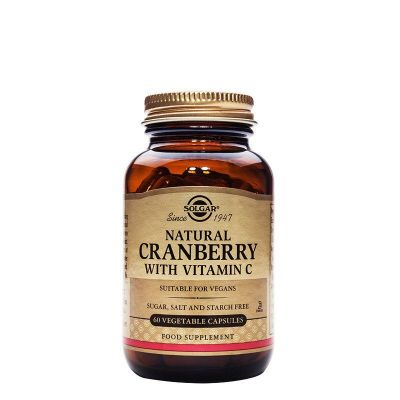 Solgar Cranberry Extract With Vitamin C veg caps 60s.