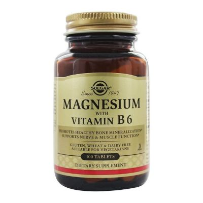 Solgar Magnesium with Vitamin B6 100 ταμπλέτες