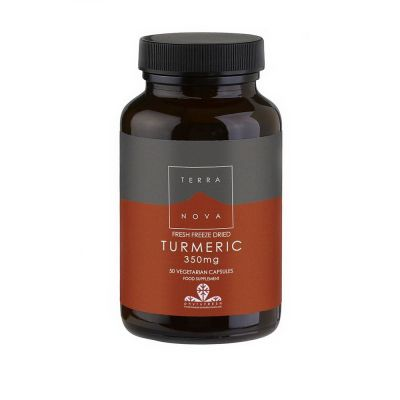Terranova Fresh Freeze Dried Turmeric Root 350mg 50 caps