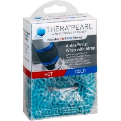 TheraPearl Reusable Hot & Cold Therapy Ankle/Wrist Wrap Θερμοφόρα/Παγοκύστη Ασρταγάλου/Καρπού 1τμχ