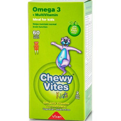 Chewy Vites - Omega 3 + Multivitamin 60 Ζελεδάκια