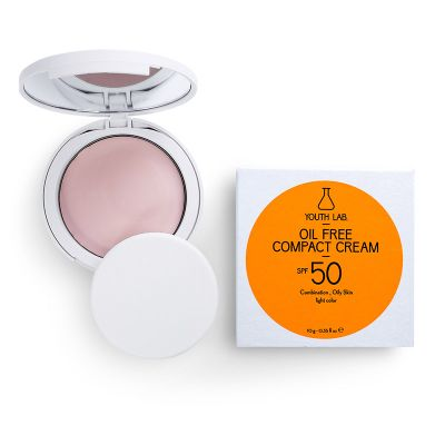 Youth Lab. Oil Free Compact Cream Combination Oily Skin Light Colour SPF50 10 gr