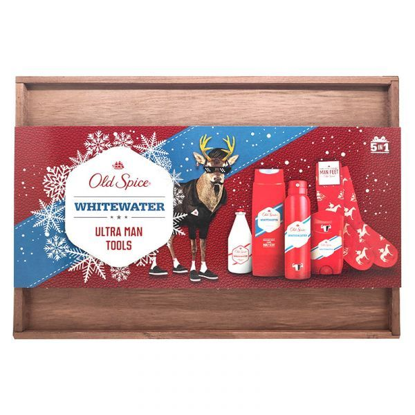 Old Spice Christmas Set Whitewater Ultra Man Tools με 5 προϊόντα